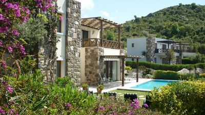 Photo for Luxury 3 Bed, 2 bath private villa with pool.  Close to Gumusluk fishing village