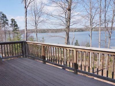 Photo for Eagles Perch: Beautiful views of the lake from both main floor decks.
