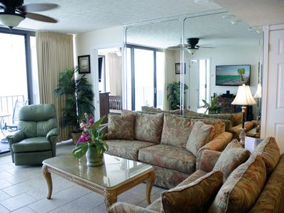 Photo for Mer-Mazing Views at Mermaid's Hideaway-2 Gulf Front Master Bedrooms! Reserved Covered Parking