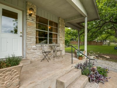 Photo for Vintage-Styled, Hill country, Rock Home just 3 blocks from the town square!