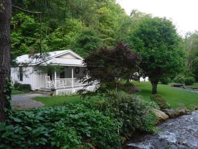 Photo for RELAX HERE! Creek, 1 story Private, Country but close to town MORE UPDATES!