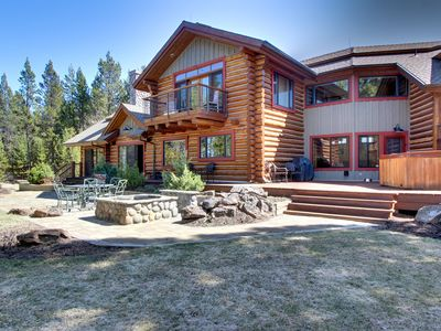 Photo for Waterfront house on the Deschutes River with a private hot tub and firepit!