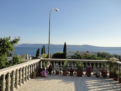 Photo for One bedroom apartment with terrace and sea view Novi Vinodolski (A-15335-a)