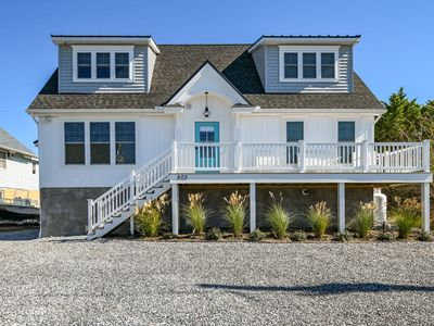 Photo for All New! 5 BD, 3 BA Spacious Canal-front Cottage with 2+ block walk to beach