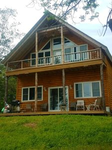 Photo for new chalet style log cabin, stunning water view