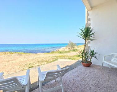 Photo for Comfortable apartment with veranda overlooking the sea