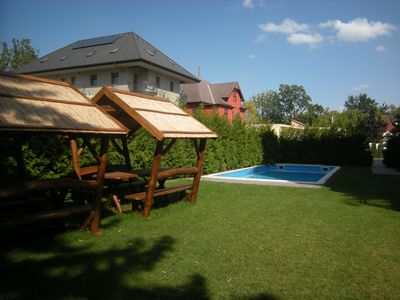 Photo for Unique luxury apartment with pool, Wifi close to Balaton