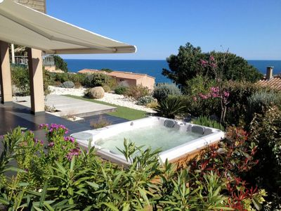Photo for TIKI Cove villa rental Tarco sea views, features an outdoor Jacuzzi