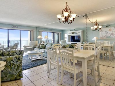 Photo for FREE DAILY ACTIVITIES!  LINENS INCLUDED*!  Direct Oceanfront, 2 bedroom, 2 bath condo with open den.