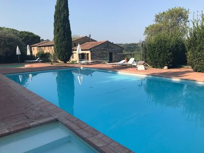 Photo for AIETTA Corner. Pool and Tennis Court. An enchanting Tuscan village.