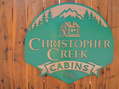 Photo for A one bedroom, one bathroom cabin overlooking Christopher Creek.
