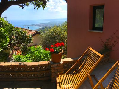 Photo for MARGOT'S HOUSE  Sea View Terrace + Etna Taormina