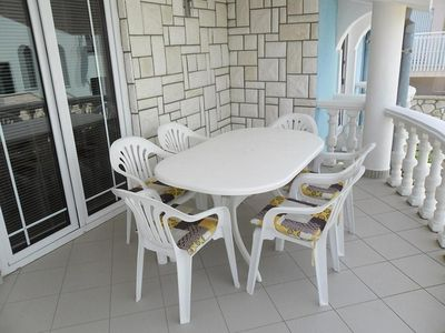Photo for Two bedroom apartment with terrace Zaton, Zadar (A-13213-b)