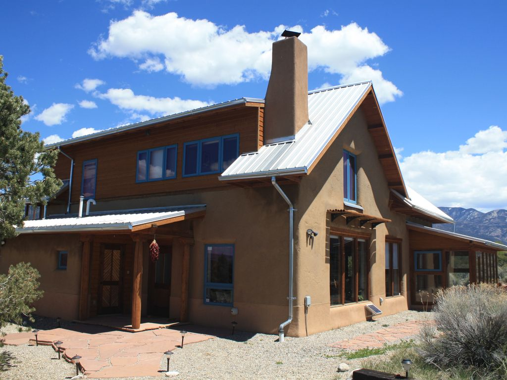 elegant solar home midway between taos a vrbo