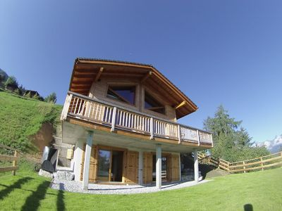 Outside view from garden, 3 floor chalet
