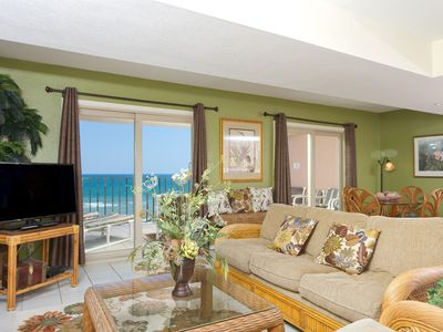 Photo for Inverness 800 - Beachfront Corner Condo, Large Private Balcony, Pool, Spa, Direct Ocean Access
