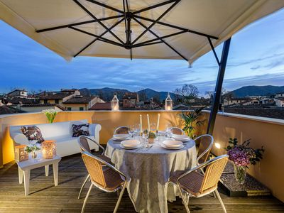 Photo for Breathtaking Views of Lucca from a Spacious Furnished Terrace inside the Walls