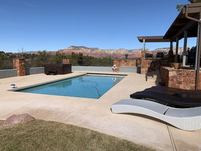 Photo for Sedona Sunset Ranch, Views! Pool, Hot Tub, Fire pit, Sleeps 14, Family Friendly