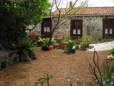 Photo for Beautiful separate Canarian house on our flower-filled finca in El Tanque