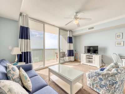 Photo for Serene condo w/ panoramic gulf-front views, pools & hot tubs! Walk to Pier Park!