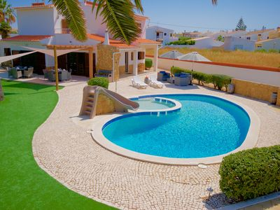Photo for Amazing 6 Bed Villa. Pool with slide & toddlers pool