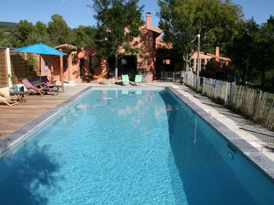 Photo for Very beautiful bright house with a big swimming pool in the heart of the Luberon