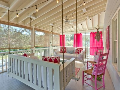 TWO SWINGING PORCH BEDS!