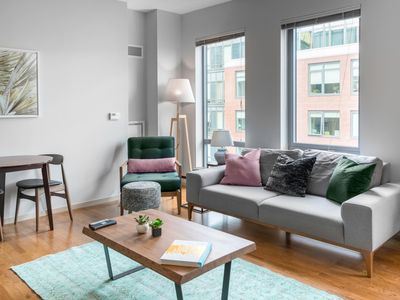 Photo for Gorgeous North End 1BR w/ W/D, Gym, near North Station, by Blueground