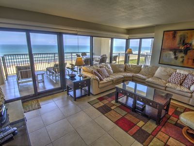 Photo for Beachfront condo located on the 9th floor and South corner of the Ocean Vista Towers
