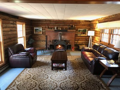 Photo for Cozy Log Cabin with lake access and quick drive to Mt Sunapee!
