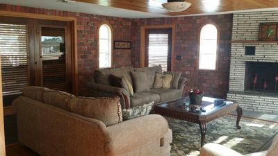 Photo for Spacious historic home across from white sandy beaches of the Gulf of Mexico.