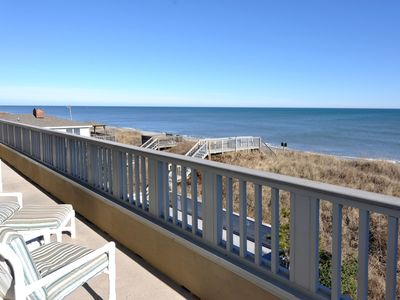 Photo for Top Of The Oceans: OBX penthouse condo, oceanfront pool, elevator in building.