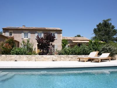 Photo for holiday vacation large villa rental, france, southern france, provence, les alpilles, pool, walk to town, air conditioni
