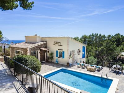 Photo for Wonderful villa with sea view and pool in Costa D'en Blanes, Mallorca