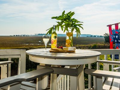 Photo for Large Deck with Awesome Ocean & Marsh View! Free WiFi! Free Hunting Island pass!