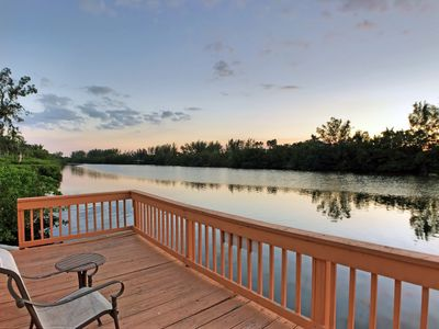 Photo for Lakefront Property on Siesta Key Among Tropical Landscape W/ Heated Pool