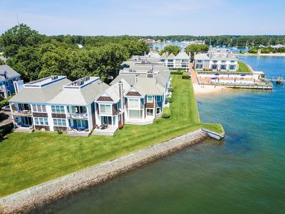 Photo for NEW LIST: Luxury Waterfront Condo-Pool, Beach Access, heart of Greenport Village
