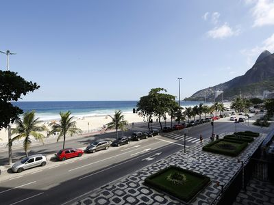Photo for Rio063-Classy beachfront Apartment in Leblon