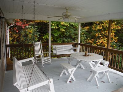 Spacious porch, perfect for coffee in the morning and sunsets in the evening.