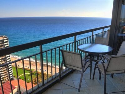 Private balcony with amazing views!