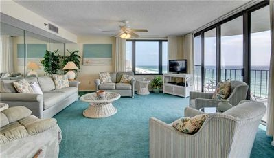 Photo for Floor To Ceiling, Wall To Wall, Livingroom Glass Wall With Expansive Gulf/Beach Views