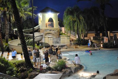 Night swimming at resort until 11pm