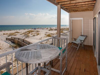 Photo for Charming, Nostalgic 2BD/2BA Direct Gulf Front Condo - Feels like a beach house!