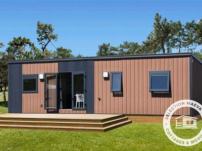 Photo for Camping La Tabardière **** - Maeva Camping - Premium Mobile Home 4 Rooms 6 People + TV