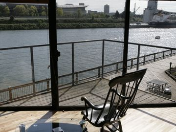 Riverfront:Two Floors w/ Stunning River Views & 200 sf  Private Patio