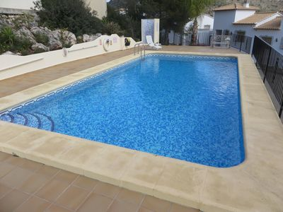 Shared pool, shower, swimmable not just a plunge