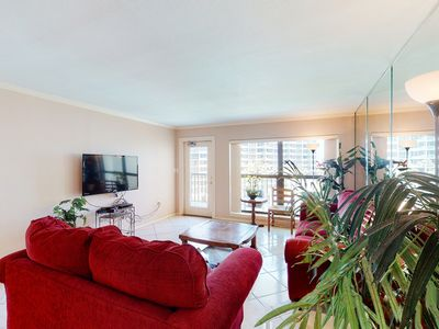 Photo for NEW LISTING! Waterfront condo w/ a balcony, shared pools, hot tubs, & tennis