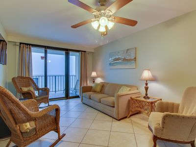 Photo for Waterfront condo w/ incredible beach access, shared pool, hot tub, & more!