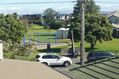 Moa Park a safe children's playground across the road