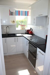 Kitchen with dual aspect sea views